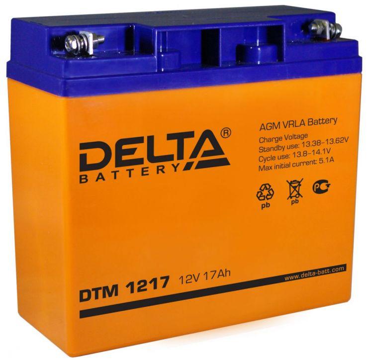 Аккумулятор свинцово-кислотный АКБ DELTA (Дельта) DTM 1217 12 Вольт 17 Ач
