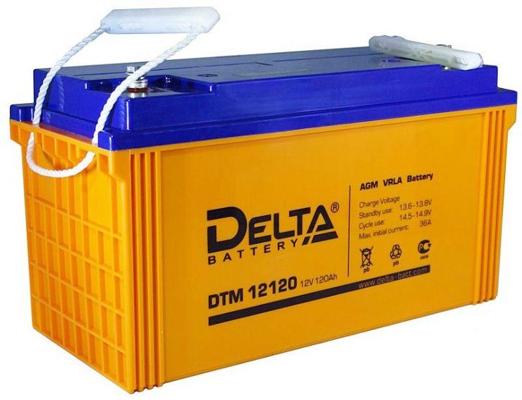 Аккумулятор свинцово-кислотный АКБ DELTA (Дельта) DTM 12120 L 12 Вольт 120 Ач