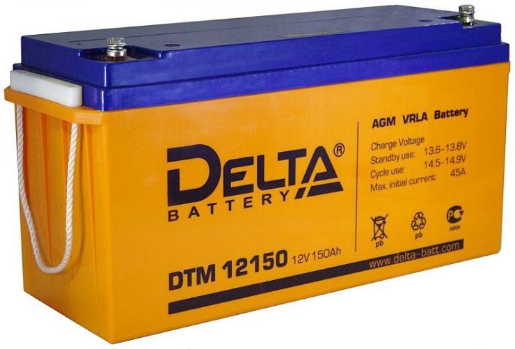 Аккумулятор свинцово-кислотный АКБ DELTA (Дельта) DTM 12150 L 12 Вольт 150 Ач