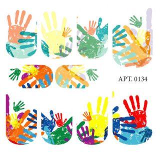 Слайдер-дизайн для ногтей № 0134