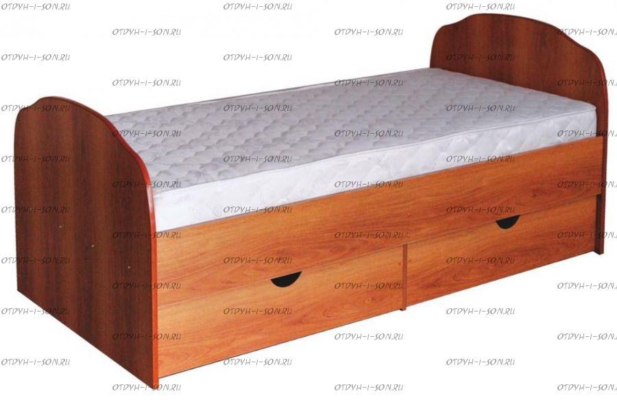 Кровать Людмила-10 с основанием (Детская) (90х190)