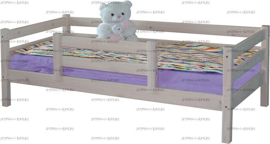 Кровать Соня 4 с защитой по центру массив (80Х190)