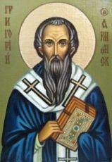 Икона Григорий Армянский (рукописная)
