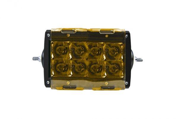 Желтая прозрачная крышка для 4-х дюймовой двухрядной фары