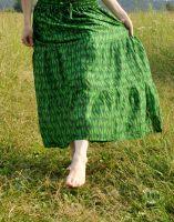 Длинная ярко-зеленая юбка в пол, Индия