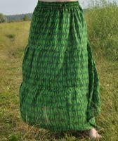 Длинная ярко-зеленая юбка в пол, купить