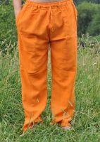 летние оранжевые мужские штаны из хлопка