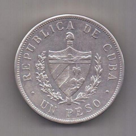 1 песо 1933 г. Куба