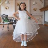 """Платье """"Мисс Лива"""" белое со шлейфом"""