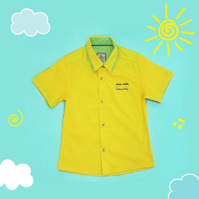 5423a48402ef желтая рубашка с коротким рукавом для мальчика интернет-магазин ...