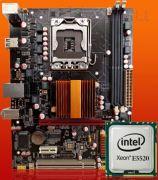 Материнская на базе чипсета Intel X58 с интегрированным процессором Xeon E5520