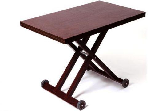 Стол-трансформер с деревянным каркасом на колесиках KITKAT WOOD
