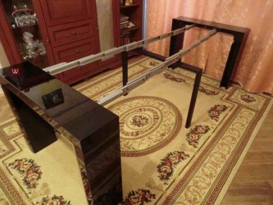 Стол консоль-трансформер  B 2307 черный лак