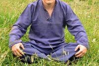 синие прямые мужские штаны из органического хлопка, Индия