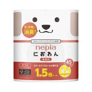 NEPIA Niowan-niowanyan Двухслойная туалетная бумага 45 м. (8 рулонов)