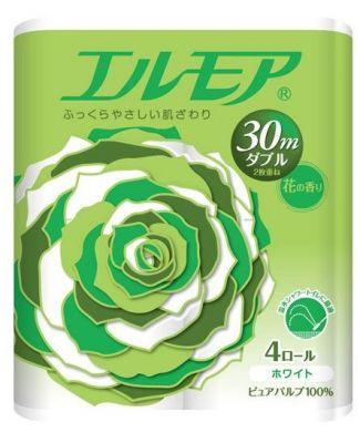 Kami Shodji ELLEMOI Ароматизированная двухслойная туалетная бумага 30м (4 рулонов)