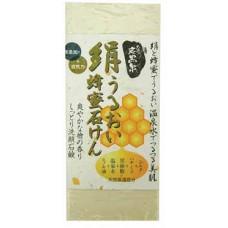 Увлажняющее косметическое мыло с медом и протеинами шелка Fudo Kagaku Tankokusen
