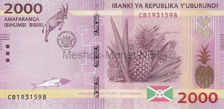 Банкнота Бурунди 2000 франков 2015 год