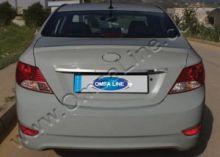 Накладка на крышку багажника, Omsa, над номером, нерж. сталь