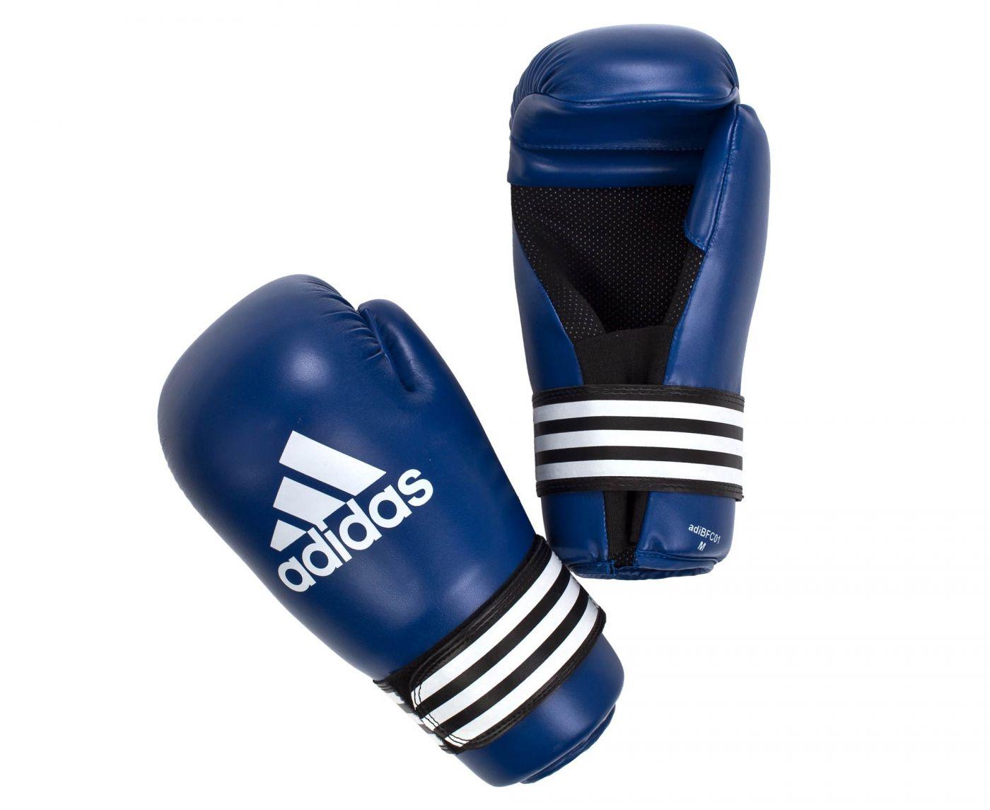 Перчатки для полуконтакт Adidas Semi Contact Gloves синие , размер S, артикул adiBFC01