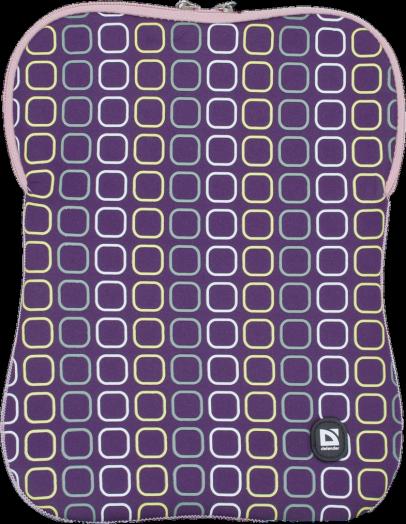 """Чехол для ноутбука Defender Portfolio 14.1"""" фиолетовый, на молнии"""
