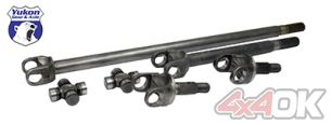Yukon 4340 Chrome-Moly replacement axle kit for '07-'15 Dana 30 front, Non-Rubicon JK - YA W24164