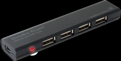 Универсальный USB разветвитель Quadro Promt USB 2.0, 4 порта
