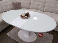 Овальный белоснежный стол-трансформер В 2332-1