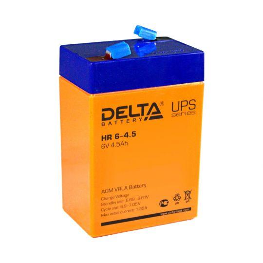 Аккумулятор свинцово-кислотный АКБ DELTA (Дельта) HR 6-4.5 6 Вольт 4.5 Ач