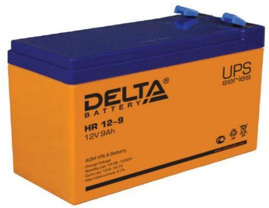 Аккумулятор свинцово-кислотный АКБ DELTA (Дельта) HR 12-9 12 Вольт 9 Ач