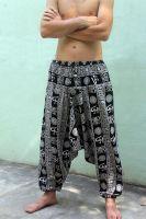 Мужские хлопковые штаны алладины с символами ОМ, Санкт-Петербург