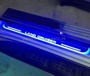 Накладки на пороги с подсветкой (Тип 8) для Toyota Land Cruiser 200
