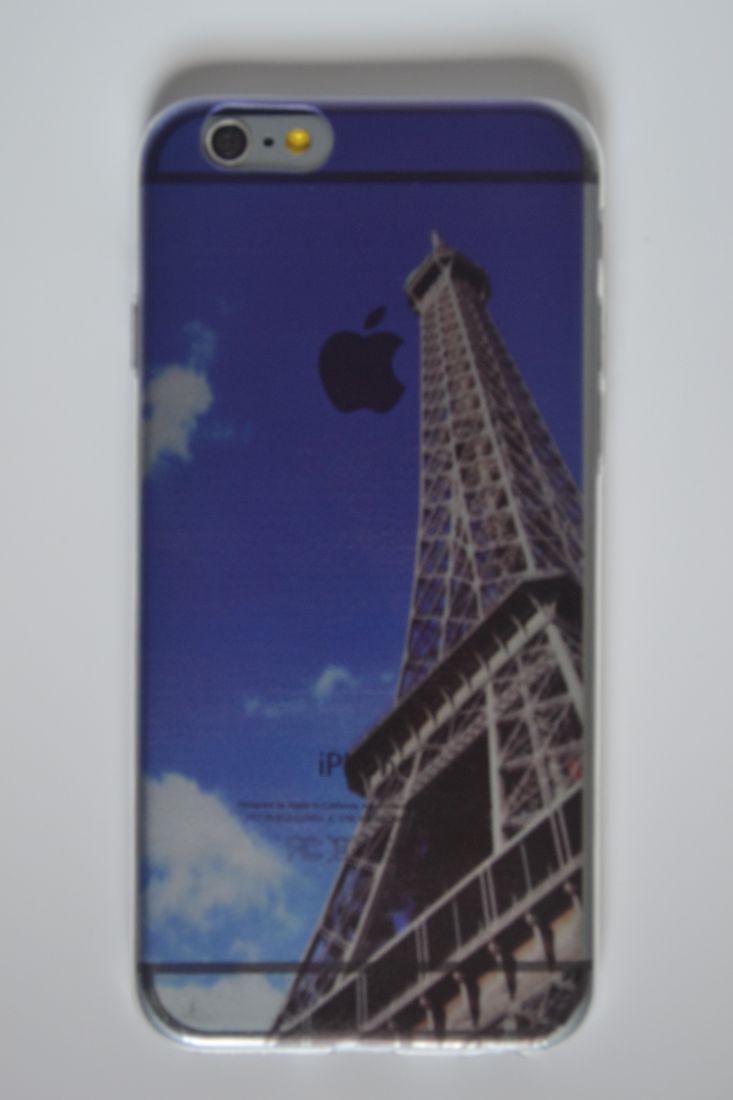 Силиконовый чехол iPhone 5/5s париж