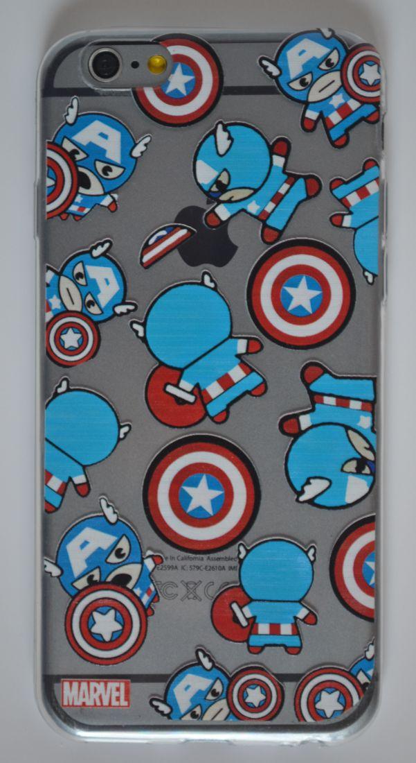 Силиконовый чехол iPhone 6/6S капитан америка
