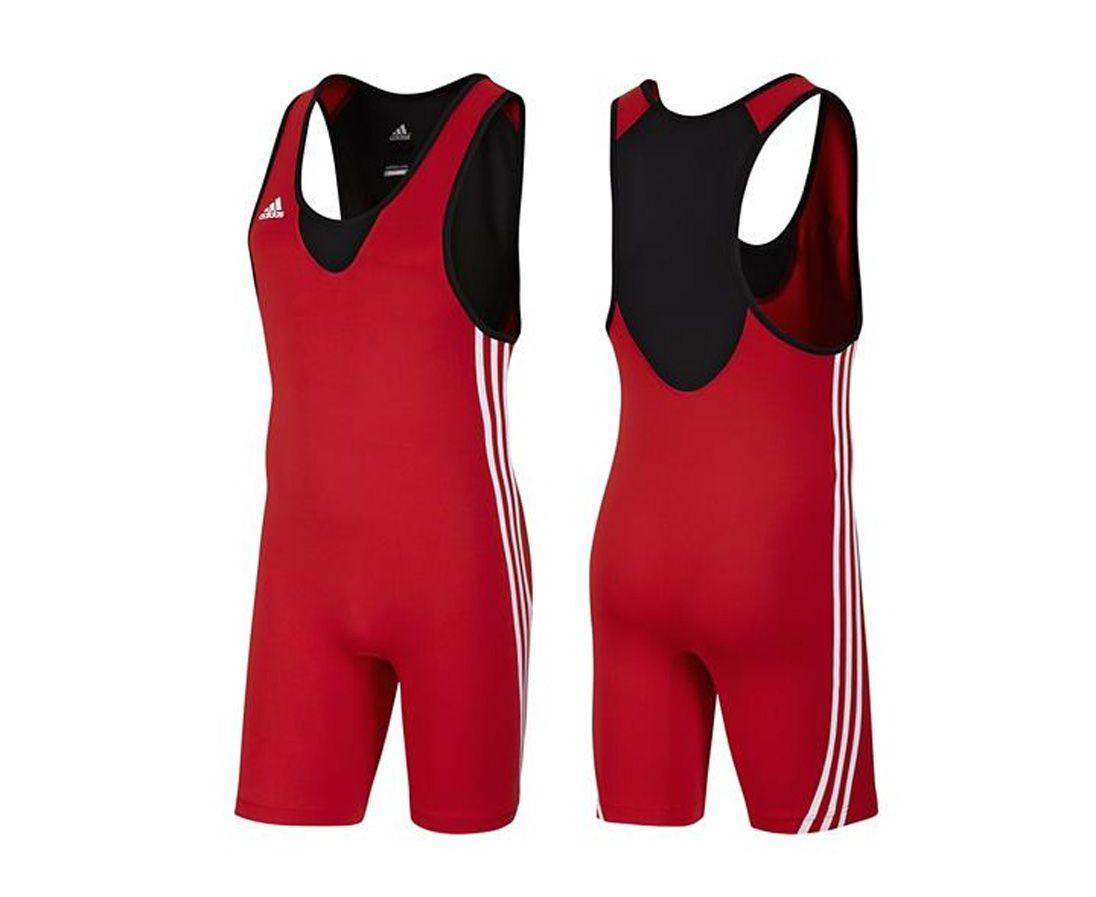 Трико борцовское Adidas Base Wrestler красное, размер XS, артикул V13837