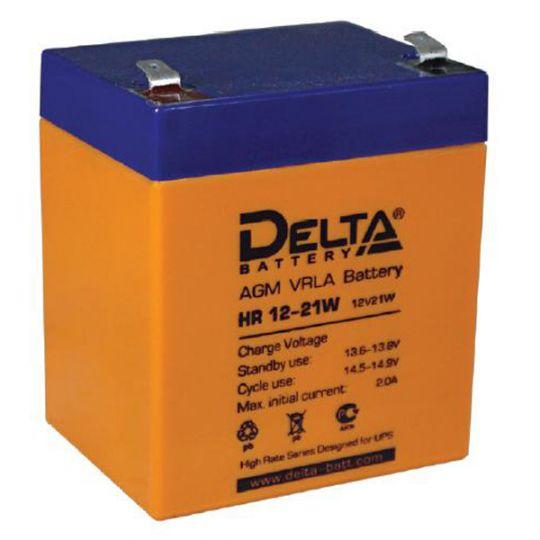 Аккумулятор свинцово-кислотный АКБ DELTA (Дельта) HR 12-21W 12 Вольт 5Ач