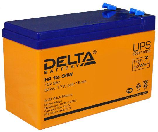 Аккумулятор свинцово-кислотный АКБ DELTA (Дельта) HR 12-34W 12 Вольт 9Ач