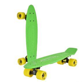 "Скейтборд ""Lamborghini"" цвет: зеленый, желтые колеса"