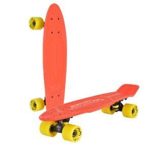 """Скейтборд """"Lamborghini"""" цвет: красный, желтые колеса"""