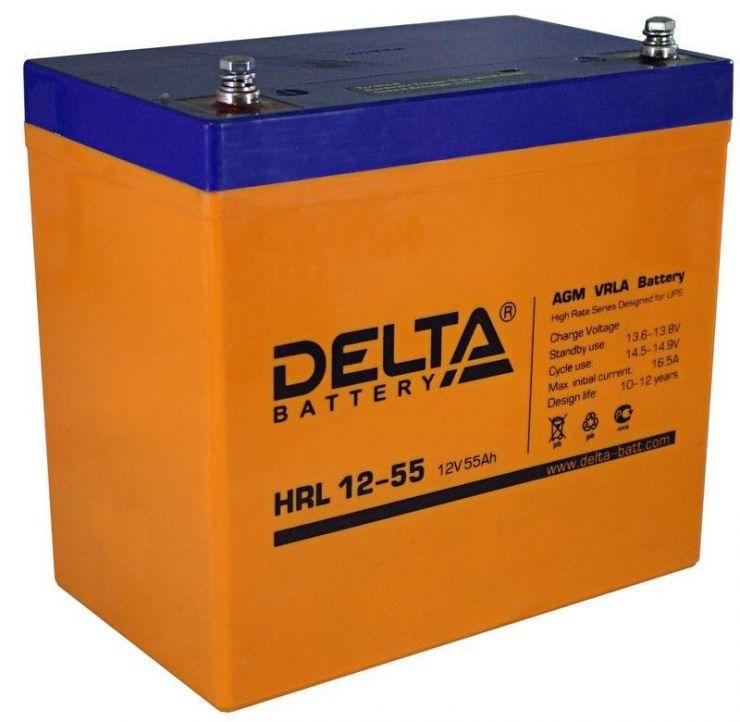 Аккумулятор свинцово-кислотный АКБ DELTA (Дельта) HRL 12-55 12 Вольт 55Ач
