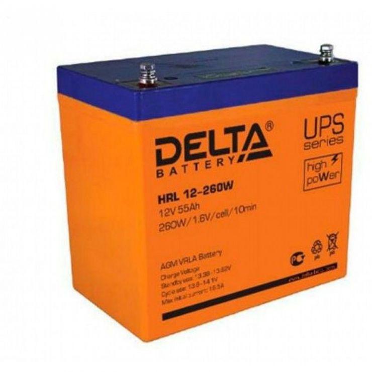 Аккумулятор свинцово-кислотный АКБ DELTA (Дельта) HRL 12-260W 12 Вольт 55Ач