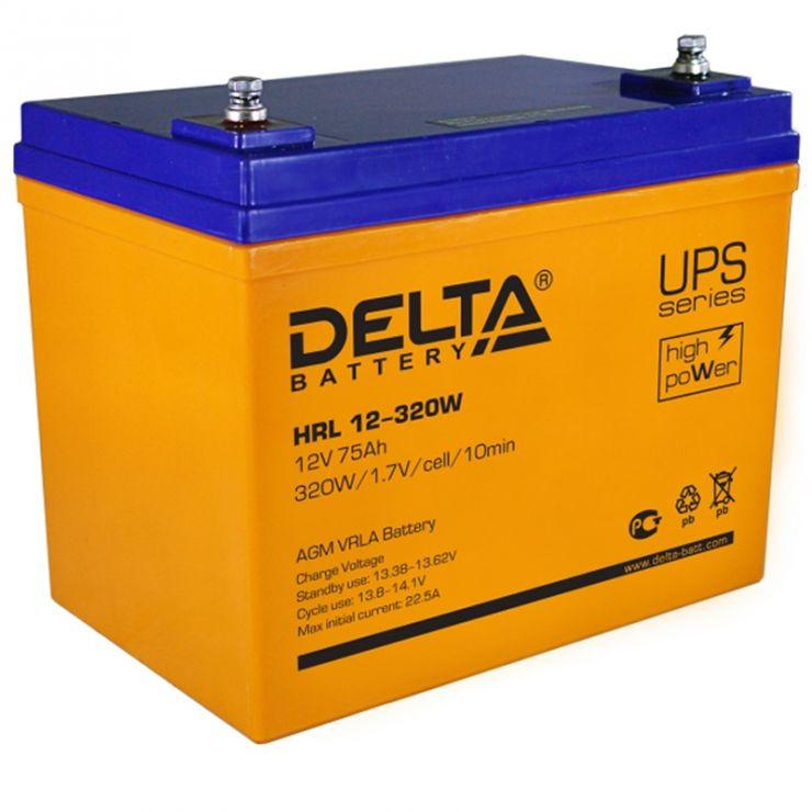 Аккумулятор свинцово-кислотный АКБ DELTA (Дельта) HRL 12-320W 12 Вольт 75Ач