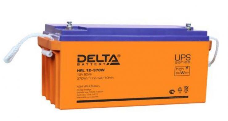 Аккумулятор свинцово-кислотный АКБ DELTA (Дельта) HRL 12-370W 12 Вольт 80Ач