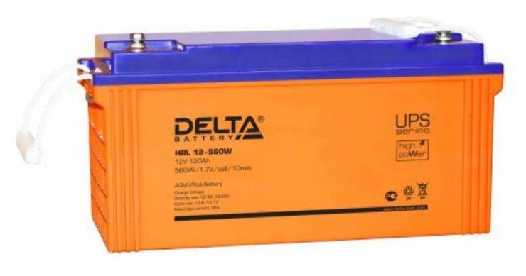 Аккумулятор свинцово-кислотный АКБ DELTA (Дельта) HRL 12-560W 12 Вольт 120Ач