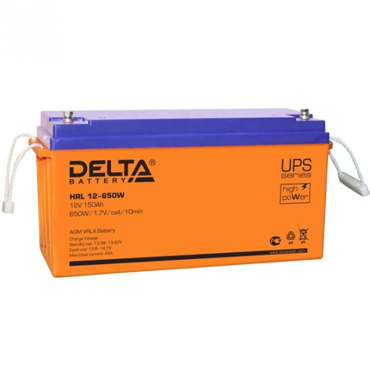 Аккумулятор свинцово-кислотный АКБ DELTA (Дельта) HRL 12-650W 12 Вольт 150Ач