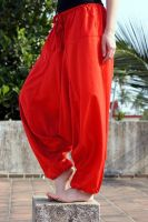 штаны алладины из вискозы красного цвета, купить в Москве