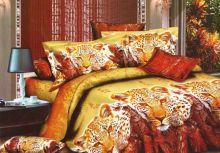 Постельное белье 3D Леопарды, Сатин, 2 спальное