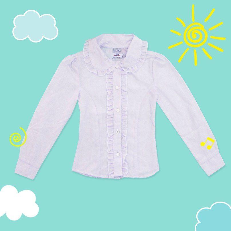 Блузка бледно-сиреневая