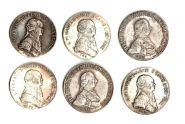 Копии редких царских монет. Отличное качество, не магнит, 6шт