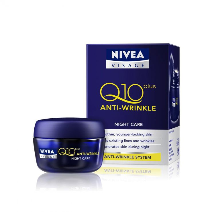 Нивея Визаж Q10Plus ночной крем против морщин